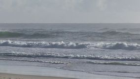 At Elston`s beach, aka `Surfer`s Paradise, Australian Gold Coast.. stock video footage