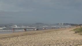 Elston` s strand, het Paradijs ` van de aka` Surfer ` s stock footage