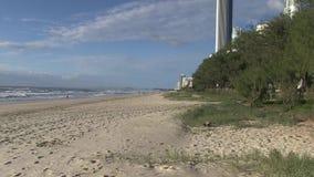 Elston` s strand, het Paradijs van de aka` Surfer ` s, Australische Gouden Kust stock footage