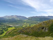 Elter Water viewed from Loughrigg Fell, Lake District Royalty Free Stock Photography
