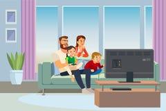 Eltern, die zu Hause Zeit mit Kindervektor verbringen stock abbildung
