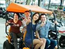 Eltern und erwachsenes Kinderreisen Lizenzfreie Stockfotos