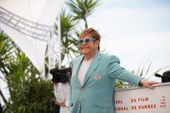 Elton John assiste al photocall fotografie stock libere da diritti