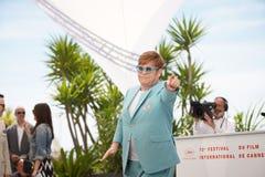 Elton John assiste al photocall per fotografie stock libere da diritti