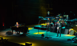 Elton John and Band plays to sellout crowd Stock Image