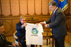 Elton John in Kiev Stock Photography