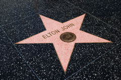 Elton John star on hollywood walk of fame, Los Angeles Stock Photography