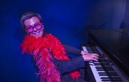 Elton John wax figure in Grevin Museum Stock Photos