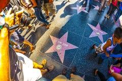 Elton Johns gwiazda na Hollywood spacerze Obrazy Royalty Free