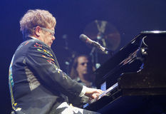 Elton 014. Music singer and composer sir Elton John performs live in the island of Majorca, Spain Stock Images