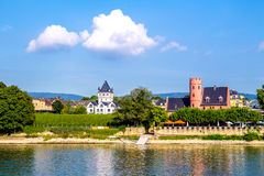 Eltville am Rhein, along the Rhine River in Germany. Eltville am Rhein, little town famous for wineyard located along the Rhine River in Germany Stock Image