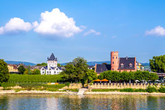 Eltville am Rhein, along the Rhine River in Germany. Eltville am Rhein, little town famous for wineyard located along the Rhine River in Germany Royalty Free Stock Photos