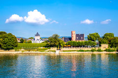 Eltville am Rhein, along the Rhine River in Germany. Eltville am Rhein, little town famous for wineyard located along the Rhine River in Germany Royalty Free Stock Photo