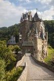 中世纪城堡,城镇Eltz,德国 库存图片