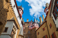 Eltz Castle, Germany, Europe. View from the courtyard of the castle Eltz royalty free stock images