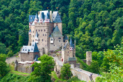 Eltz Castle, Germany. Eltz Castle, a medieval castle located on a hill in the forest stock image