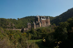 Eltz castle in germany. Eltz castle view with the forrest at Mayen-Koblenz, Germany Royalty Free Stock Photo