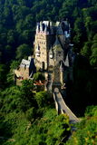 Eltz Castle. Is a medieval castle nestled in the hills above the Mosel (Moselle) River between Koblenz and Trier, Germany. It is still owned by a branch of the Stock Photos