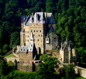 Eltz Castle. Is a medieval castle nestled in the hills above the Mosel (Moselle) River between Koblenz and Trier, Germany. It is still owned by a branch of the Stock Photography