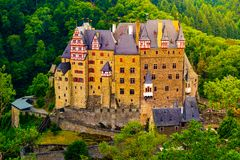 Eltz Castle in Rhineland-Palatinate, Germany. Beautiful landscape with medieval architecture stock image