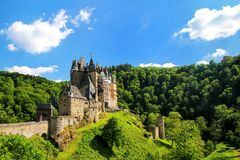 Eltz Castle in Rhineland-Palatinate, Germany. It was built in the 12th century and has never been destroyed royalty free stock images