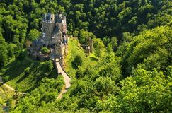 Eltz Castle in Rhineland-Palatinate, Germany. It was built in the 12th century and has never been destroyed stock image