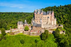 Eltz kasztel blisko Koblenz, Niemcy zdjęcie royalty free