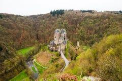 Eltz-Schloss - mittelalterliches Schloss in Deutschland Stockfotos