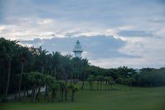 eluanbi的垦丁国家公园在18米高的灯塔站立 库存图片