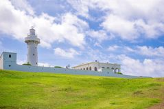 Eluanbi lighthouse at kenting, pingtung, Taiwan. Eluanbi Lighthouse is a lighthouse located on Cape Eluanbi, the southernmost point of Taiwan, to the south of Royalty Free Stock Photography