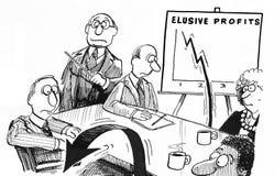 Elusive Profits Stock Photography