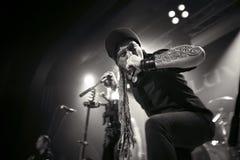 Eluveitie执行活在俱乐部 免版税库存图片