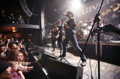 Eluveitie执行活在俱乐部 免版税库存照片