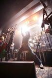 Eluveitie performing live at club. KIEV, UKRAINE - FEBRUARY 17, 2015 - Swiss folk metal band from Winterthur Eluveitie performing live at club on February 17 Stock Image