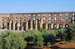 Elvas Aquädukt Lizenzfreies Stockfoto