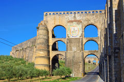 Elvas Aqueduct Stock Photography