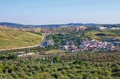 Elvas Aqueduct Stock Images