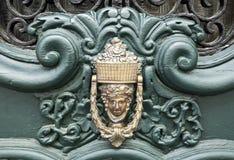 Elvas Door Knocker. Classic brass door handle knocker found in Elvas, Portugal Stock Photos