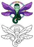 Elven czarodziejski książe z srebnym przepasuje royalty ilustracja