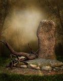 elven den gammala rocken royaltyfri illustrationer