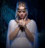 Elven flicka i skog Royaltyfri Foto