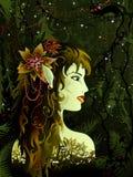 elven jungfrun royaltyfri illustrationer