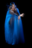 Elven trollar den isolerade flickan Royaltyfria Foton