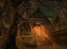 Elvenhome 3d CG illustrazione di stock