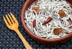 Elvers casserole Royalty Free Stock Image