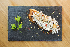 Elvers pintxo. Stock Photo