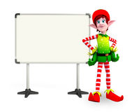 Elves character with display board Royalty Free Stock Photos