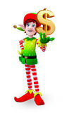 Elves character with dollar sign Royalty Free Stock Image