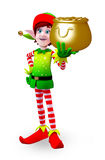Elves character with golden pot Stock Photography