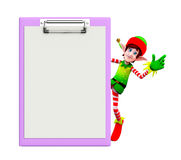 Elves character with notepad Stock Photos